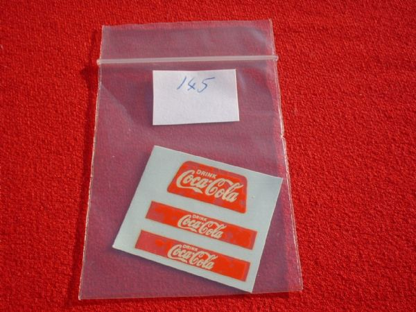 "Matchbox 1/75 37A KARRIER "" COCA COLA "" TRANSFERS / DECALS"